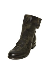 Strategia 20mm Camouflage Printed Leather Boots