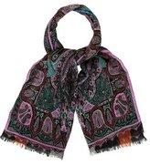 Etro Wool & Silk-Blend Paisley Scarf