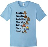 Funny Emoji Poop Days of the Week Shirt for Kids & Adults
