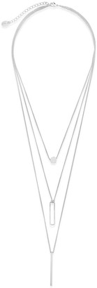 Sterling Forever Sterling Silver Triple Layer Pendant Necklace