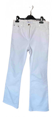 Christian Dior White Cotton - elasthane Jeans