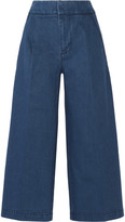 Marni Cropped Denim Wide-leg Pants - Blue