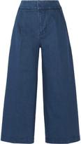 Marni Cropped Denim Wide-leg Pants - IT46
