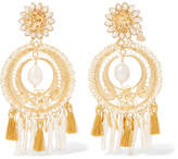 Mercedes Salazar Gold-plated Pearl Clip Earrings - One size