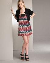 Scallop-Print Dress