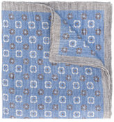 Eleventy printed linen scarf - men - Linen/Flax - One Size