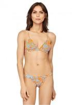 Milly Cabana Lotus Print Swim Triangle Bikini Top