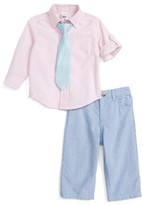 Little Me Infant Boy's Oxford Shirt, Pants & Tie Set