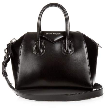 Givenchy Antigona Mini Leather Cross-body Bag - Womens - Black