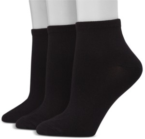 Hanes Women's Ultimate ComfortSoft 3pk Ankle Socks, Extended Size