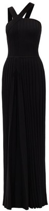 Gabriela Hearst Lavinia Rib-knitted Wool Gown - Black