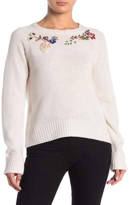 Magaschoni M Embroidered Trim Cashmere Blend Pullover