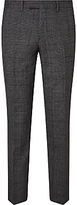 John Lewis Wool Check Tailored Suit Trousers, Charcoal
