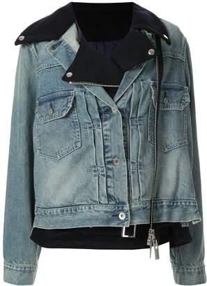 Sacai denim hybrid jacket