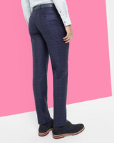 Ted Baker Checked Wool Trousers Navy