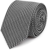 Reiss Isor - Zig-zag Patterned Tie in White, Mens