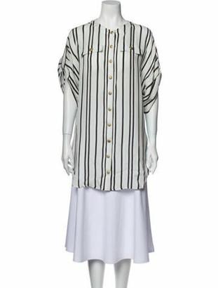 Pierre Balmain Silk Mini Dress w/ Tags White