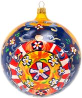 Dolce & Gabbana painted floral Christmas bauble