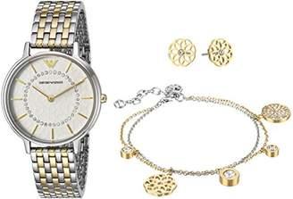 Emporio Armani Women's Kappa Analog-Quartz Watch with Stainless-Steel Strap