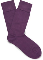 John Smedley Ribbed Cotton-blend Socks