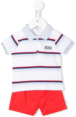 Boss Kids Striped Top And Short Set