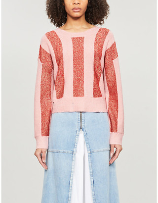 Wildfox Couture Sweetheart stripe knitted jumper