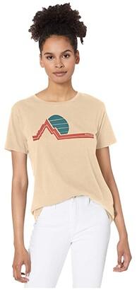 Burton Classic Retro Short Sleeve T-Shirt (True Black) Women's Clothing