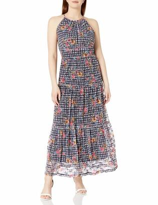Ronni Nicole Women's Sleevless Halter Maxi with Tier Skirt