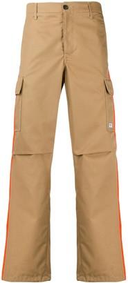 MSGM Stripe Detail Straight-Leg Cargo Trousers