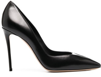 Casadei Sveva 105mm leather pumps