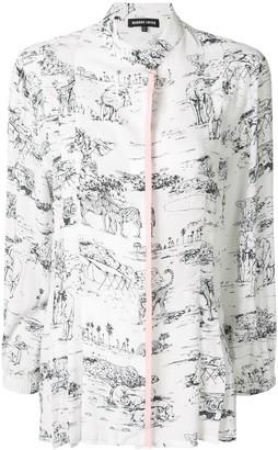 Markus Lupfer Serengeti print shirt