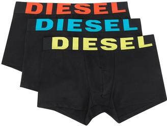 Diesel Pack Of Three Logo Boxers
