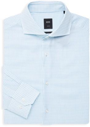 HUGO BOSS Long-Sleeve Cotton Button-Down Dress Shirt