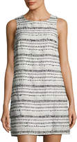 Cynthia Steffe Anna Sleeveless Bouclé Shift Dress, Black Pattern