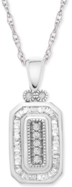 "Wrapped in Love Diamond Deco 20"" Pendant Necklace (1/4 ct. t.w.) in 14k White Gold, Created for Macy's"