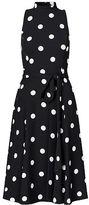 Ralph Lauren Petite Polka-Dot Crepe Midi Dress