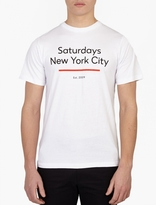 Saturdays Surf NYC White Cotton Logo T-Shirt