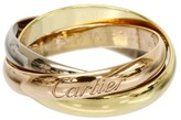 Cartier Trinity De 18K Yellow, Rose & White Gold 3 Bands Ring Size: 3.5
