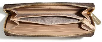 MICHAEL Michael Kors 'Jet Set - Signature' Zip Around Wallet