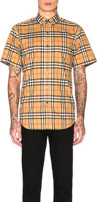Burberry Jameson Tapered Shirt in Yellow Check | FWRD