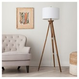 Threshold Oak Wood Tripod Floor Lamp