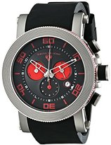"""Swiss Legend Men's 30465-01-RDA """"Cyclone"""" Stainless Steel Watch with Black Silicone Strap"""