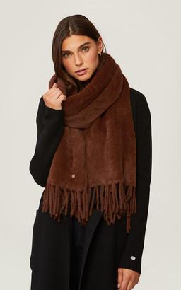 Soia & Kyo TAYLAR furry knit scarf with fringe
