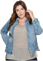 Lucky Brand Plus Size Waisted Trucker Jacket