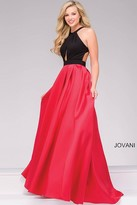 Jovani Open Back Long Prom Gown 45142