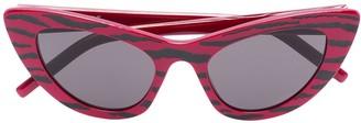 Cat Eye Tiger Stripe Cat-Eye Sunglasses