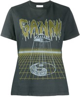 Ganni printed logo T-shirt