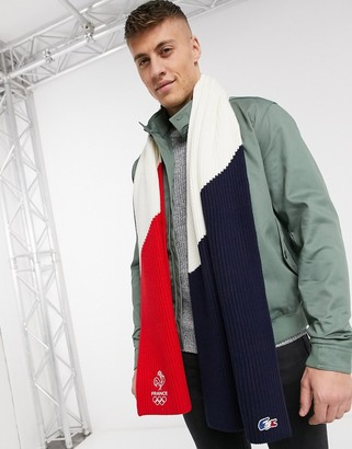 Lacoste Laocste color block scarf