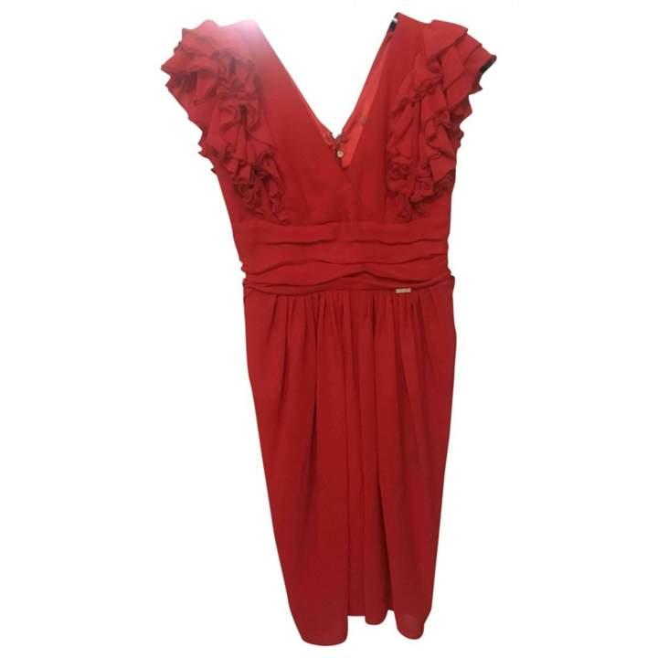 Betty Blue Red Silk Dress for Women
