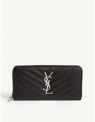 Saint Laurent Monogram quilted leather zip-around wallet